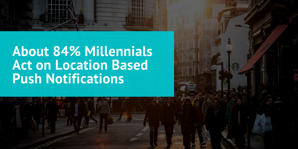 About 84% Millennials Act on Location Based Push Notifications
