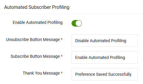 Turn Off Automated Profiling