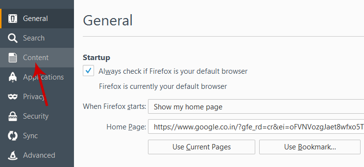 Disable Firefox Push Notification