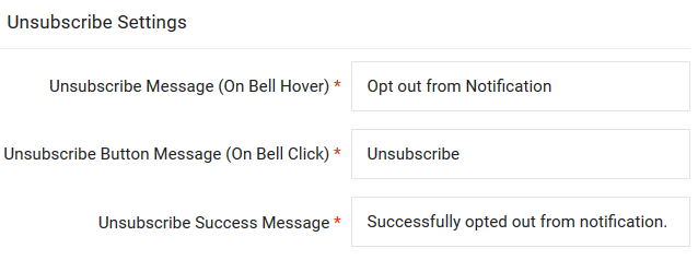 Unsubscribe Widget for Privacy Right